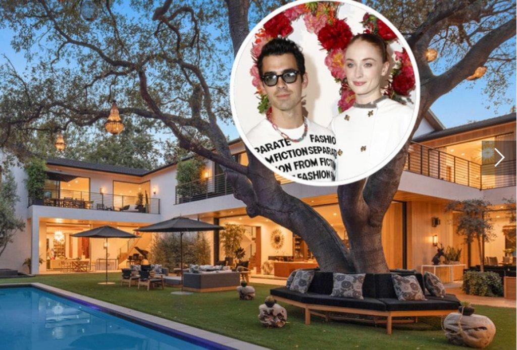 Joe Jonas and Sophie Selling their Los Angeles Menshion