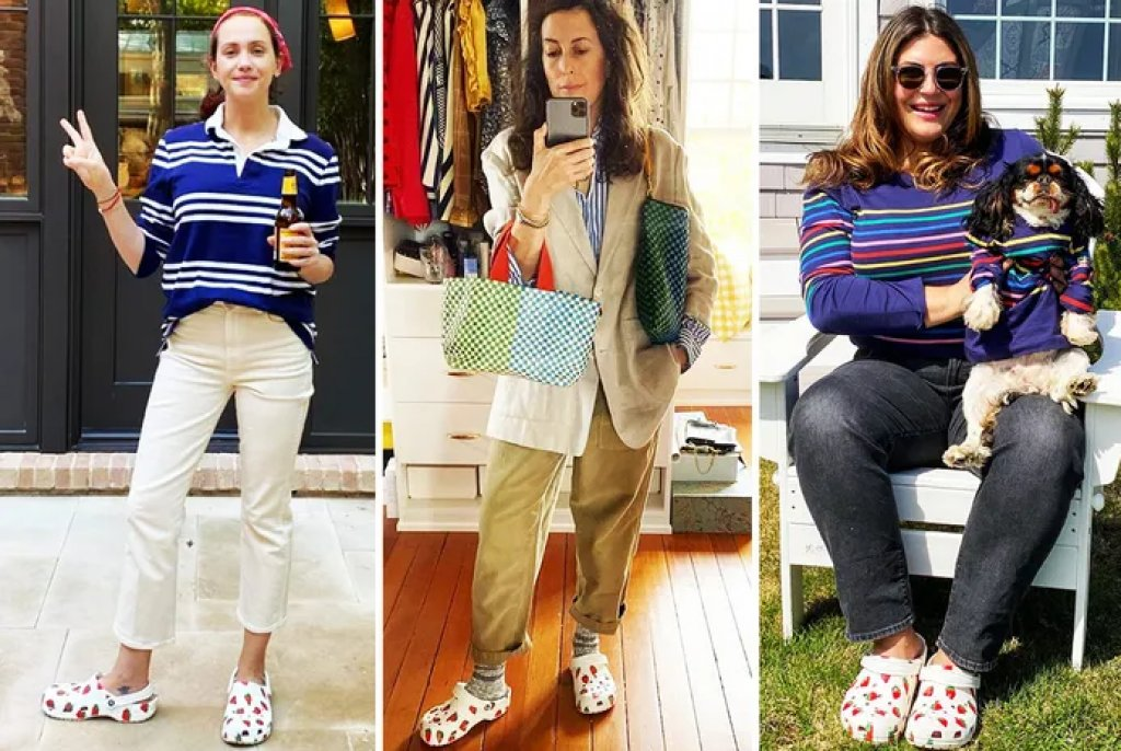 Why so many Woman Suddenly Wearing Strawberry Crocs on Instagram?